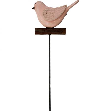 POT STAKE BIRD PINK