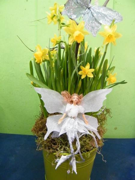 Potted Daffodil with Fairy