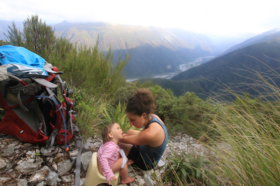 potty training elimination communication baby hiking nz