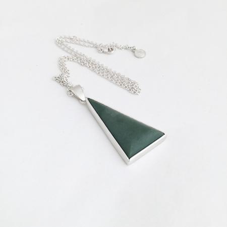 Pounamu Triangle Necklace - No 1