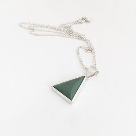 Pounamu Triangle Necklace - No2