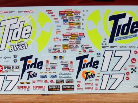Powerslide 1/24 #17 Tide 87-89 Waltrip Decals (PWR157)