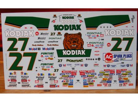 Powerslide 1/24 #27 Kodiak Rusty Wallace 88-89 (PWR175)