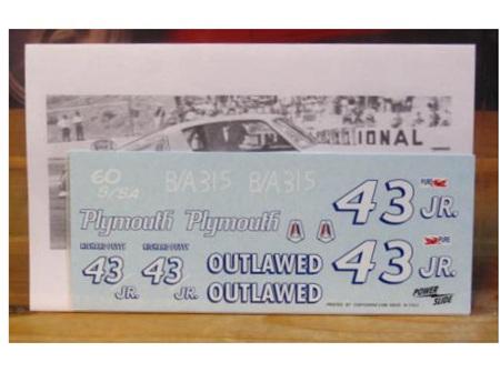 Powerslide 1/24 #43 Jr Outlawed Richard Petty 1965 Barracuda