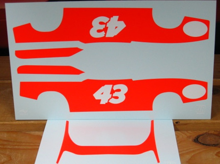 Powerslide 1/25 Vermillion Red Decals for 73 Petty Charger