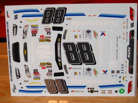 Powerslide 2014-15 Dale Earnhardt Jr Nationwide Nascar Decals