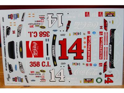 Powerslide 2016 Tony Stewart CocaCola Darlington Nascar Decals