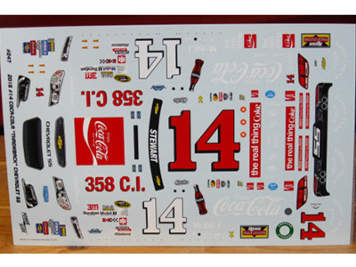 Powerslide 2016 Tony Stewart CocaCola Darlington Nascar Decals