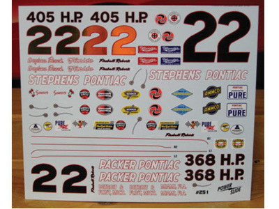 Powerslide Fireball Roberts 1961-62 Pontiac Decals