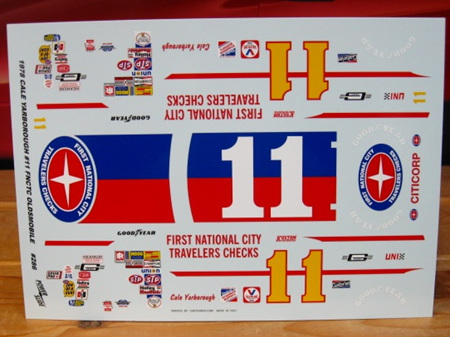 Powerslide First National City Travelers Checks Oldsmobile 1978 Champion Decals