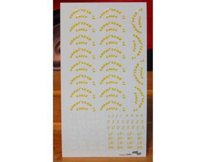 Powerslide Goodyear Tire Decals 1992-2004