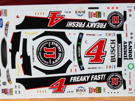 Powerslide Harvick Jimmy Johns Ford Fusion 2018 Decals