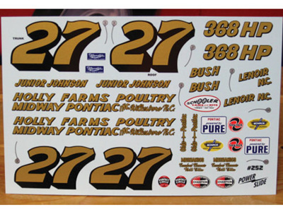 Powerslide Junior Johnson 1961 Pontiac Decals