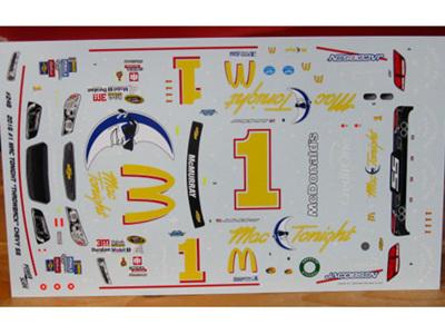 "Powerslide McDonalds ""Mac Tonight"" Chevy SS Jamie McMurray Decals"