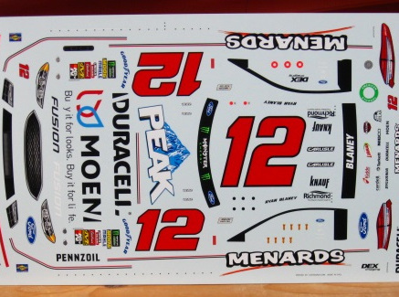Powerslide Menards Ford Fusion Ryan Blaney 2018
