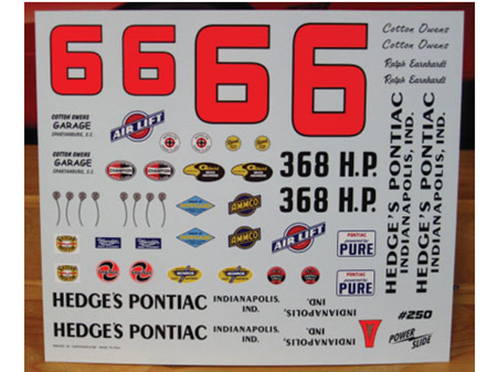 Powerslide Ralph Earnhardt Hedge's Pontiac 1961 Pontiac Decals
