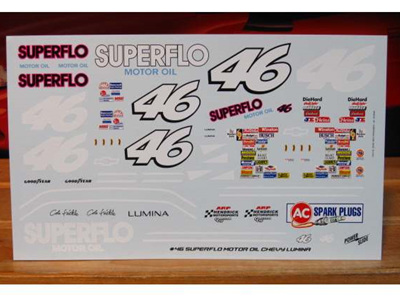 Powerslide Superflo Days of Thunder Lumina Decals