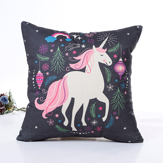 PRANCING UNICORN CUSHION COVER