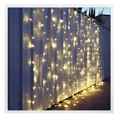 Pre-Hiring 3x3m Indoor Connectable String Curtain Lights - Warm White