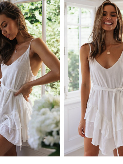 PRE ORDER Aspen Dress - White