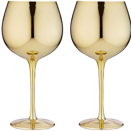 PRE ORDER   Aurora Gold Gin Glass 2pk