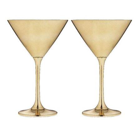 PRE ORDER   Aurora Gold Martini Glass 2pk
