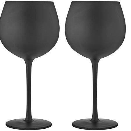 PRE ORDER   Aurora Matte Black Gin Glass 2pk