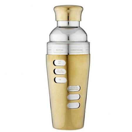PRE ORDER   Aurora Recipe Cocktail Shaker Gold