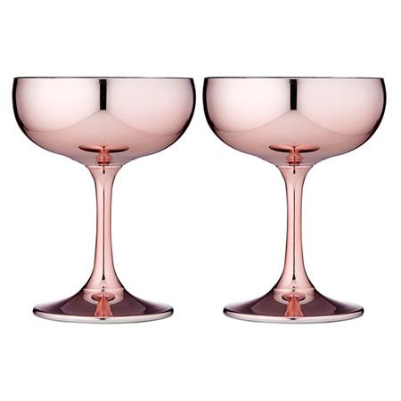 PRE ORDER   Aurora Rose Coupe Glass 2pk