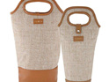 PRE ORDER | Avery Insulated Double Wine Bag - Taupe