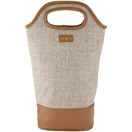 PRE ORDER   Avery Insulated Double Wine Bag - Taupe