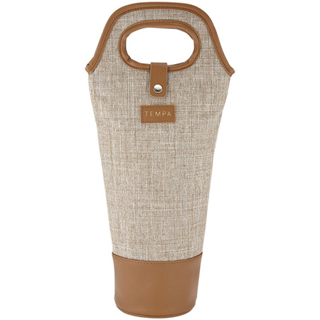 PRE ORDER   Avery Insulated  Single Wine Bag - Taupe