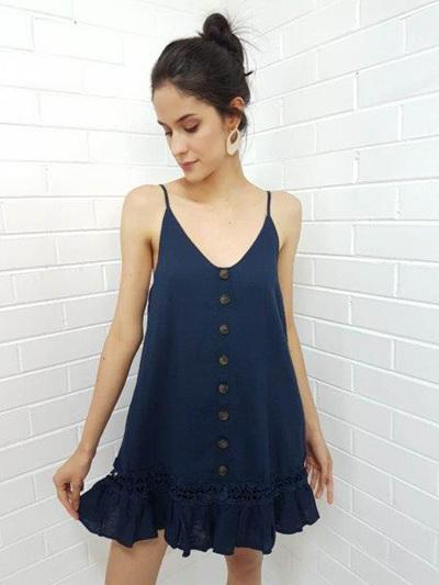 PRE ORDER Ellie Mini Dress - Navy