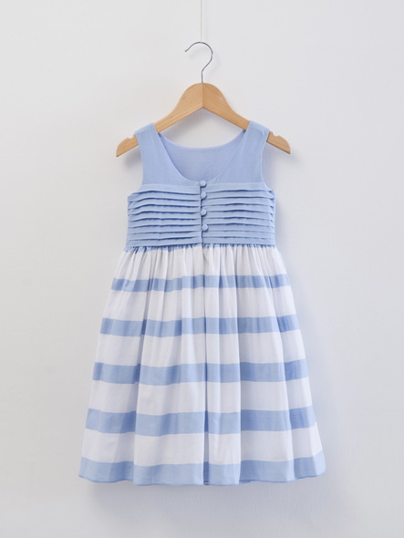 pre - Order Jacadi blue and white  stripped dress