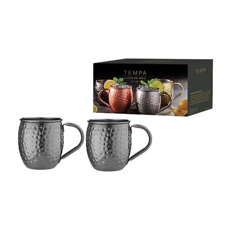 PRE ORDER   Spencer Hammered Mug Set of 2 - Black