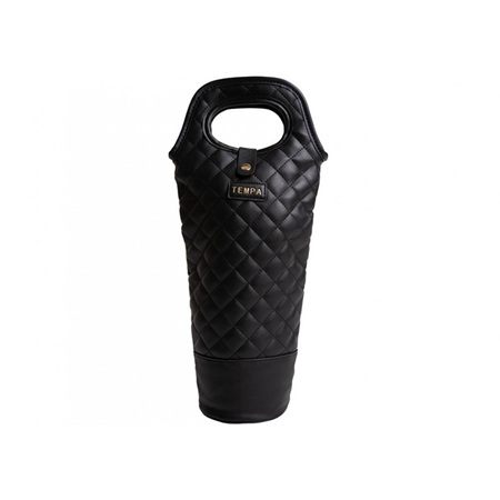 PRE ORDER   Tempa Quilted Insulated Single Wine Bag Black