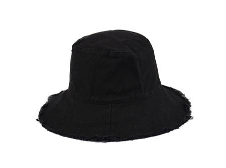 Pre orders - Fleur Frayed Bucket Black