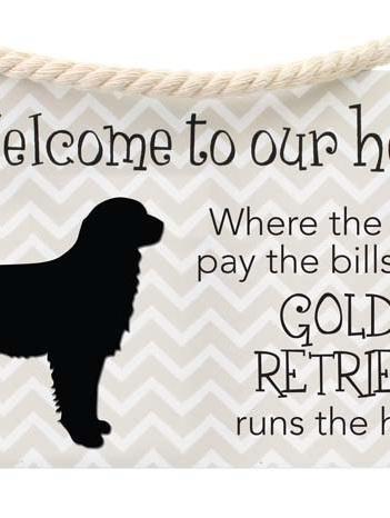 Precious Pets Hanging Sign -GOLDEN RETRIEVER