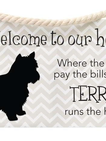 Precious Pets Hanging Sign -TERRIER