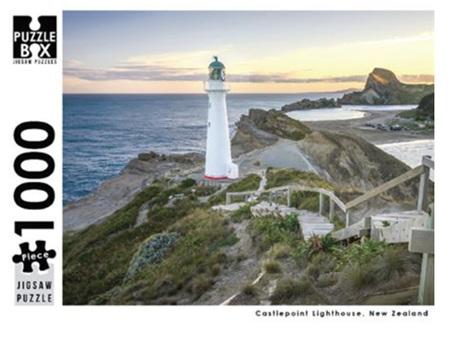 Premium Cut 1000 Piece Castlepoint Lighthouse Jigsaw Puzzle
