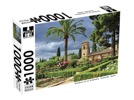Premium Cut 1000 Piece Jigsaw Puzzle Gardens of La Alhambra, Granada, Spain