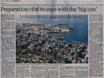 Preparation vital to cope with the 'big one' Dominion Post Jan 26, 2013