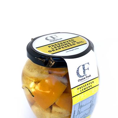Preserved Lemons in Grapeseed Oil - 500g