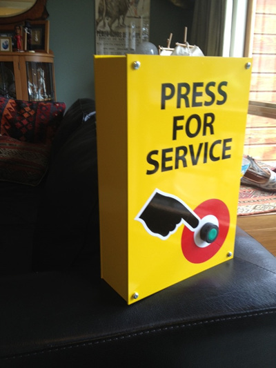 Press for Service Signs