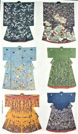 Pretty Kimono Rub-On Craft Transfers