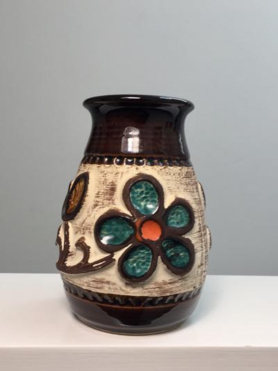 Pretty Little Vintage West German Flower Power Vase
