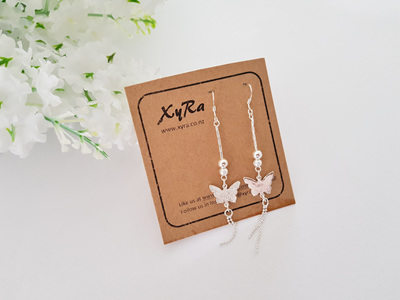 Pretty Long Butterfly Earrings