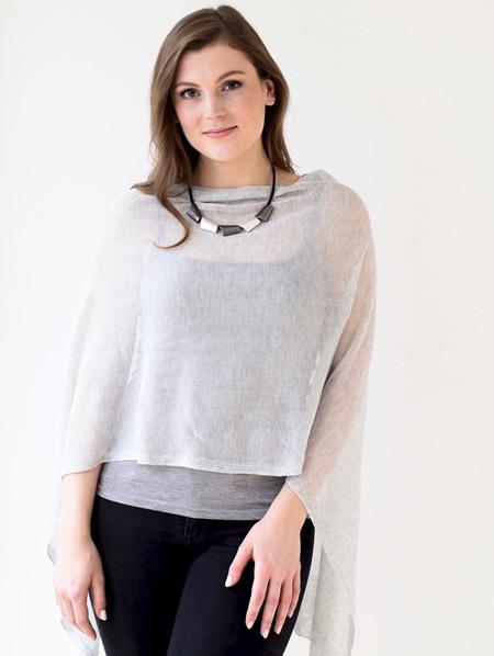 Pretty  Poncho - Light Grey