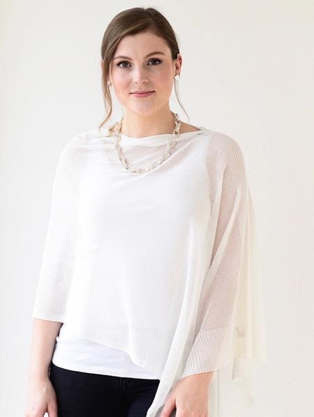 Pretty  Poncho - White