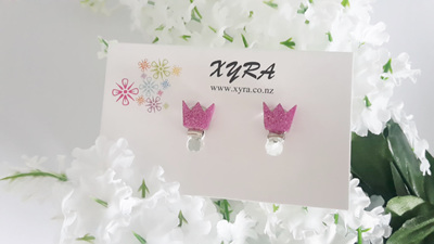 Princess Crown Clip-on Earrings